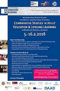 Adult Education Academy 2018 - Poster announcement