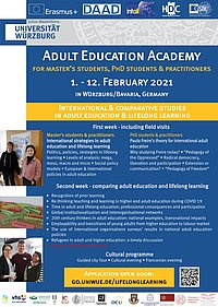 Adult Education Academy 2021 - Poster announcement